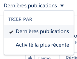 Dropdown menu in French
