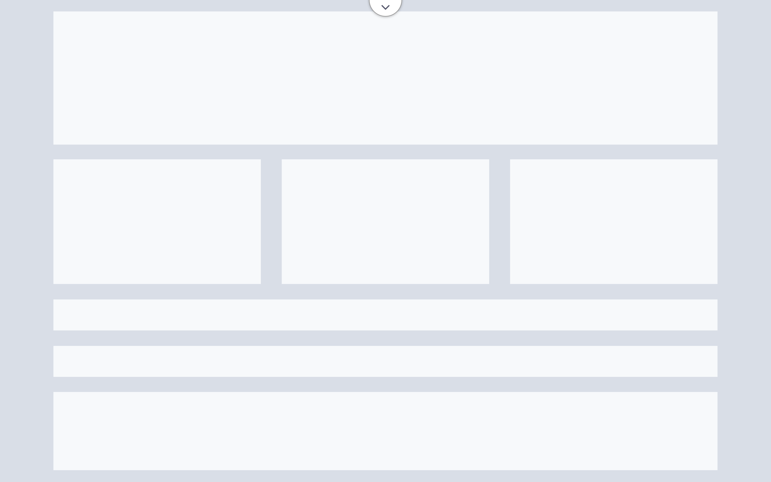 A wireframe showing a full-screen canvas; click button to show header and panels