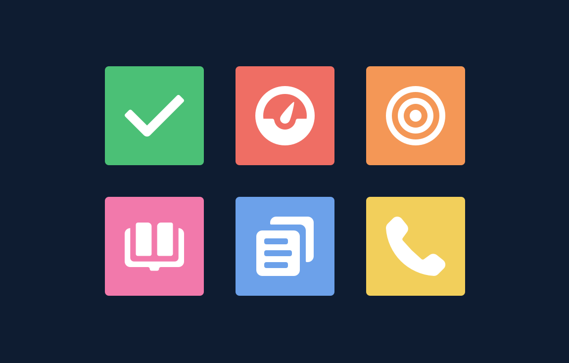 Object icons—task, dashboard, opportunity, knowledge, drafts, and call