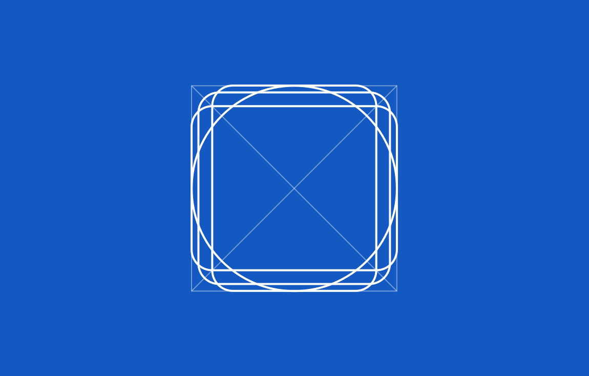 Four keyline shapes—circle, square, vertical rectangle, and horizontal rectangle